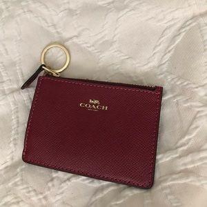 Coach card holder key ring